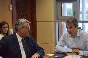 Επίσκεψη Προέδρου της Ν.Δ. κ. Κυριάκου Μητσοτάκη στον Δήμαρχο Δράμας