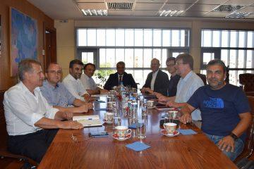 Ο Δήμαρχο της Γερμανικής πόλης του Sindelfingen, Δρ. Bernd Vohringer, συνοδευόμενος από αντιπροσωπεία, επισκέφθηκε τον Δήμαρχο Δράμας, κ. Χριστόδουλο Μαμσάκο