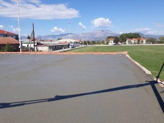 Επισκευή της στέγης των αποδυτηρίων του Γηπέδου Μικροχωρίου